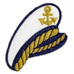 Iron-On Nautical Sailor Hat Applique Patch by PC, PA-IA-T00259