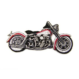 Iron-On Motorcycle Applique Patch by PC, PA-IA-T06602