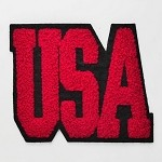 USA Chenille Iron-On Applique Patch by PC, PA-BB-CH555A