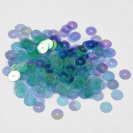 6mm Round Flat Sequins Paillettes, Loose Sequins by pack, TR-11173