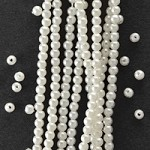 2.5mm White Plastic Pearl Beads by 650 pcs