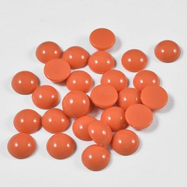 11mm Cabochon faux dome round flatback pearl beads by 100pcs, SP-2396