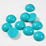Blue Cabochon faux dome round flatback pearl beads by 50 pcs, SP-2396