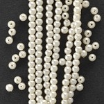 5mm Off White Plastic Pearl Beads by 72 pcs