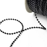 3mm Black Faux Round Pearlized Beads on a string, Pearl Trim, 30 Yards, SP-2261