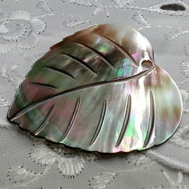 "1-11/16"" x 1-1/2"" Shell Pendant by PC, SEE-SHE-1030"