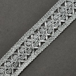 "1-1/4"" Metallic Braid Trim by yard, SMB-1013"