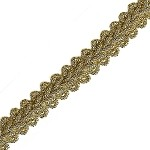 Metallic Braid Trim by yard, BLAN-5383