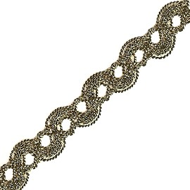 Metallic Braid Trim by yard, PAS-7313