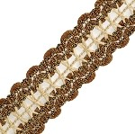 Metallic Braid Trim by yard, PAS-C8138