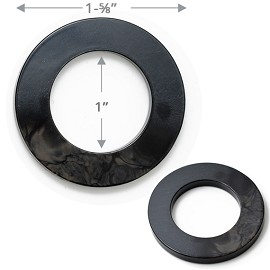 O-Ring Acrylic Buckle, TR-10199