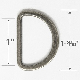 "1"" D-Ring Metal Buckle, A8029"