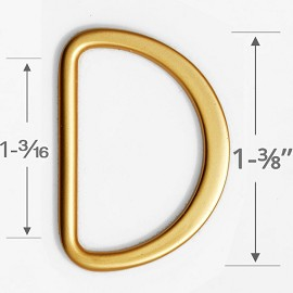 "1-3/16"" D-Ring Metal Buckle, A8666"