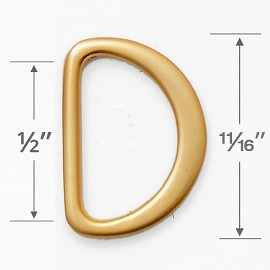 "1/2"" D-Ring Metal Buckle, A8933"