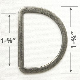 "1-3/4"" D-Ring Metal Buckle, A7958-2"