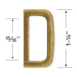"1-1/4"" D-Ring Metal Buckle, A8086"