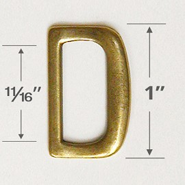 "1"" D-Ring Metal Buckle, A8087"