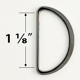 GUNMETAL Metal D-Ring Buckle by 2 PCS, GN-2075
