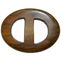 "Natural Horn Oval Buckle, 1"" bar height, SEA-B4001"
