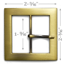 "2-3/16"" Square Metal Buckle, A7653-3"