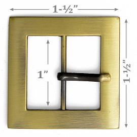 "1-1/2"" Square Metal Buckle, A7653-5"