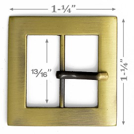 "1-1/4"" Square Metal Buckle, A7653-6"