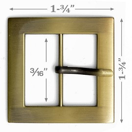 "1-3/4"" Square Metal Buckle, A7653-4"