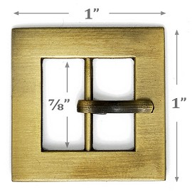 "1"" Square Metal Buckle, A7653-7"
