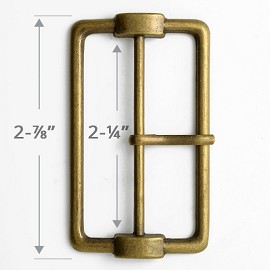 "2-1/4"" Center Bar Metal Buckle, A8808-1"
