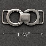 Silver Metal Buckle Chain Accessory by pc, SP-2176