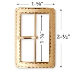 Rectangle Metal Buckle, TR-10281