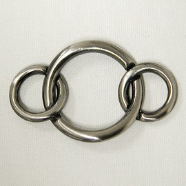 Metal Rings Ornament Buckle, AB4023