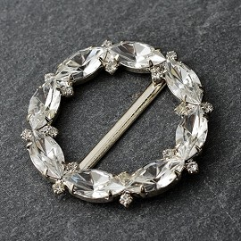 "1-3/4""D Crystal Rhinestone Buckle by PC, FF-7285"