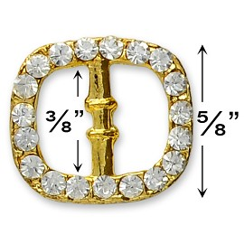 "5/8"" Rhinestone Buckle by PC, T1289"