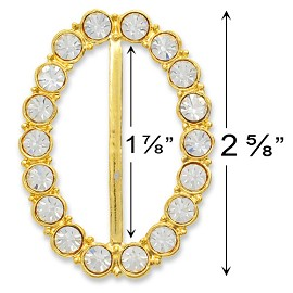 "2-5/8""' x 1-7/8"" Rhinestone Buckle by PC, T1457"