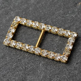 "5/8"" x 1-1/4"" Rhinestone Buckle by PC, T1879"