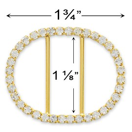 "1-3/4"" x 1-3/8"" Rhinestone Buckle by PC, T1886"