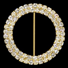 "2-1/16""OD Rhinestone Buckle by PC, T1927"