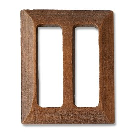 "1-7/16"" x 1-3/4"" Rectangle Wooden Buckle for belt, handbag, fashion accessories by pc, SEE-TR10038"