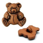 Plastic Teddy Bear Button with Shank by each, REN-CR-734013