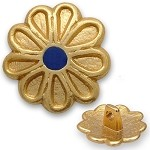 Flower Metal Button with Shank, BT-1330