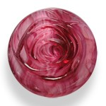 Glass Rose Button with Shank, BEA-G8508