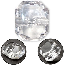 Octagon Glass Button with Shank, BEA-G8547