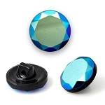 14mm Round Glass Button Button with Shank by PC, ROI-RB371