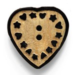 25mm Bone Heart Button by pc, HB-HEART