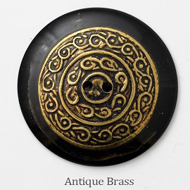 40mm Vintage Dome shaped Brass Horn Button, HZB-50548