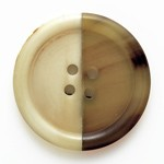 Natural Round Horn Combo Button, MAY-HZB-60510