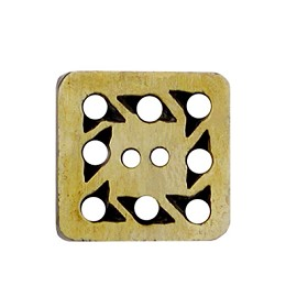 "7/8"" Vintage Square Horn Button by pc, HB-2A"