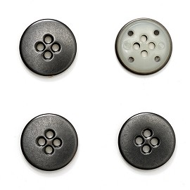 "15mm (5/8"") Metal Button with 4-Hole by pc, BEA-20962"