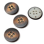 18mm (11/16'') Metal Button with 4-Hole by pc, BEA-20962